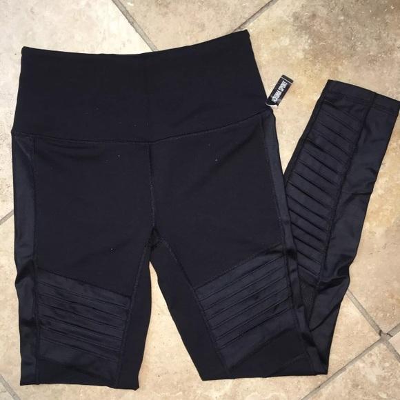 da93c6d2c1837 Victoria's Secret Pants | Vsx Victoria Sport Black Moto Knockout ...